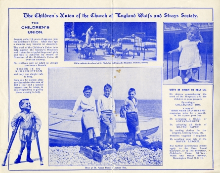 Publicity flyer for the Children's Union
