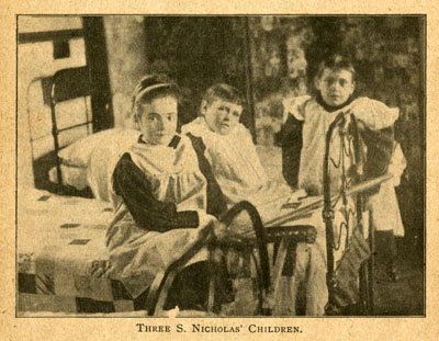 Three children at St. Nicholas' Home, Byfleet, Surrey