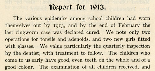 Report on the health of children at Connaught Home For Girls, Lowestoft, Suffolk