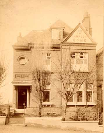 The Dulwich Home was the first children's home in the Waifs and Strays' Society. The original house was rented at No.8, Stamford Villas on Friern Road. This photograph shows the later home, Lampson House.