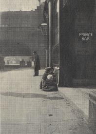 Huddled in doorways or outside shops, homeless children were a visible part of London life.
