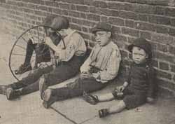 By Edwardian times, old attitudes about the 'deserving poor' were beginning to change. The work of organisations like the Waifs and Strays' Society alerted people to the problems of destitute children, whose poverty was through no fault of their own.