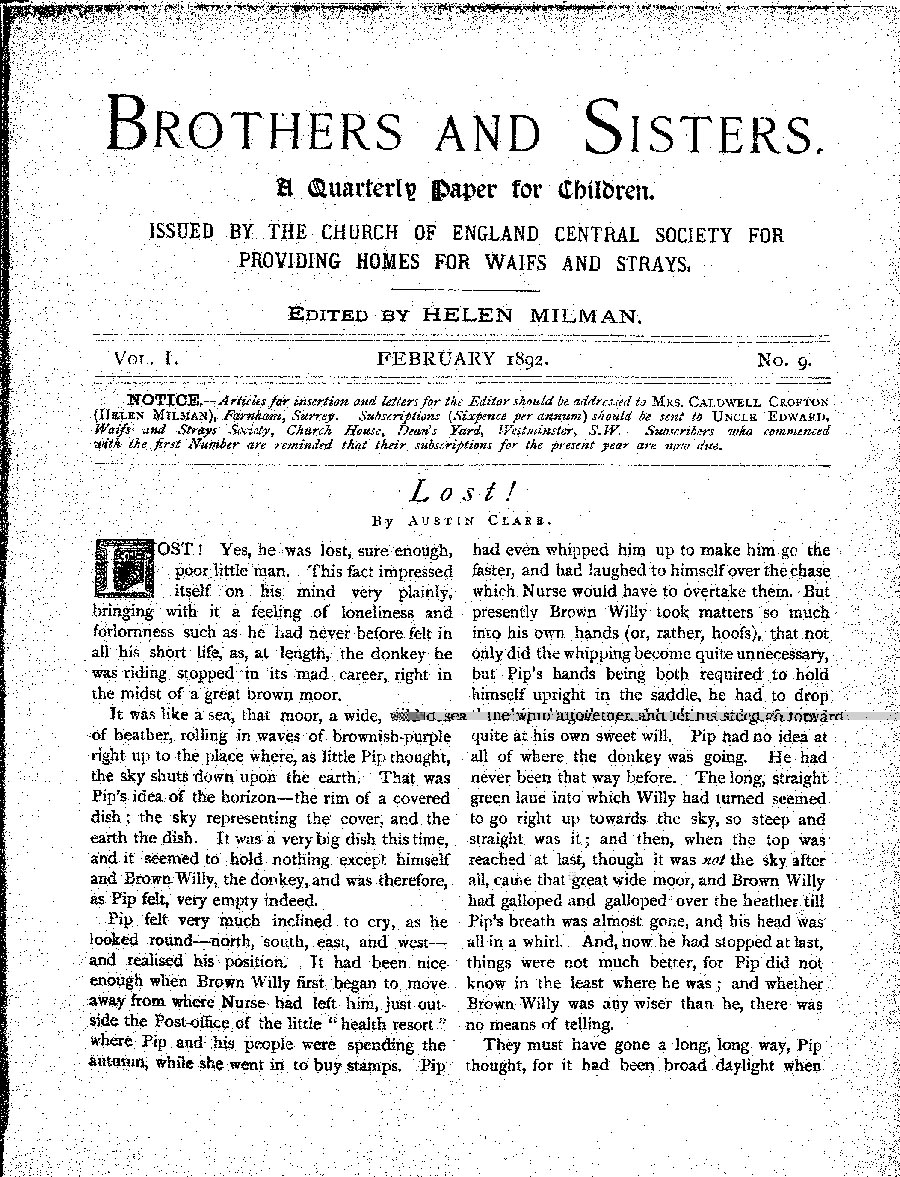 Brothers and Sisters February 1892 - page 1