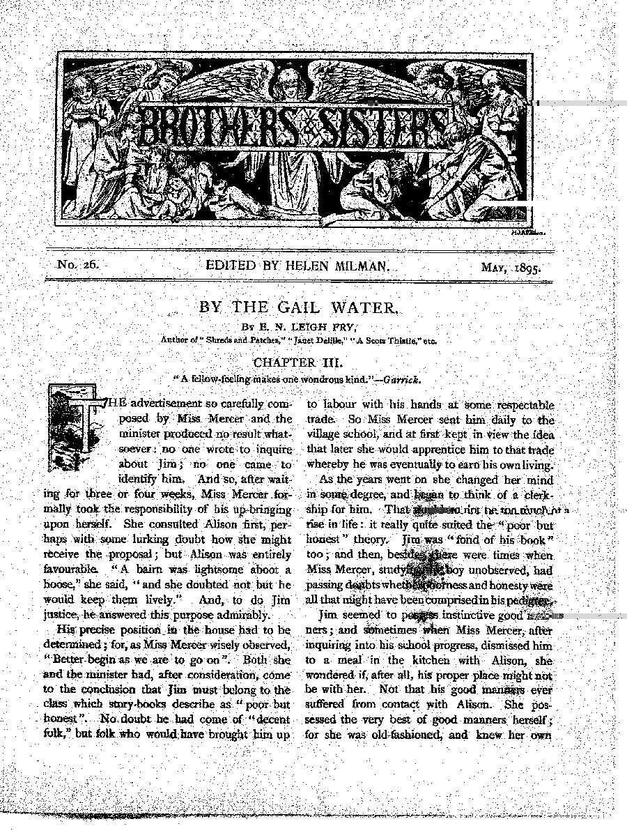 Brothers and Sisters May 1895 - page 1