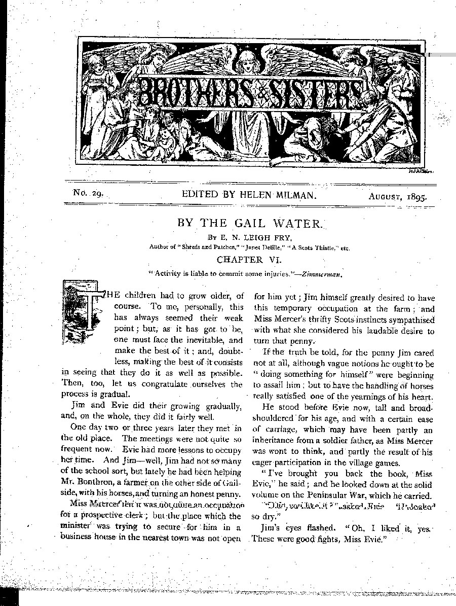 Brothers and Sisters August 1895 - page 1