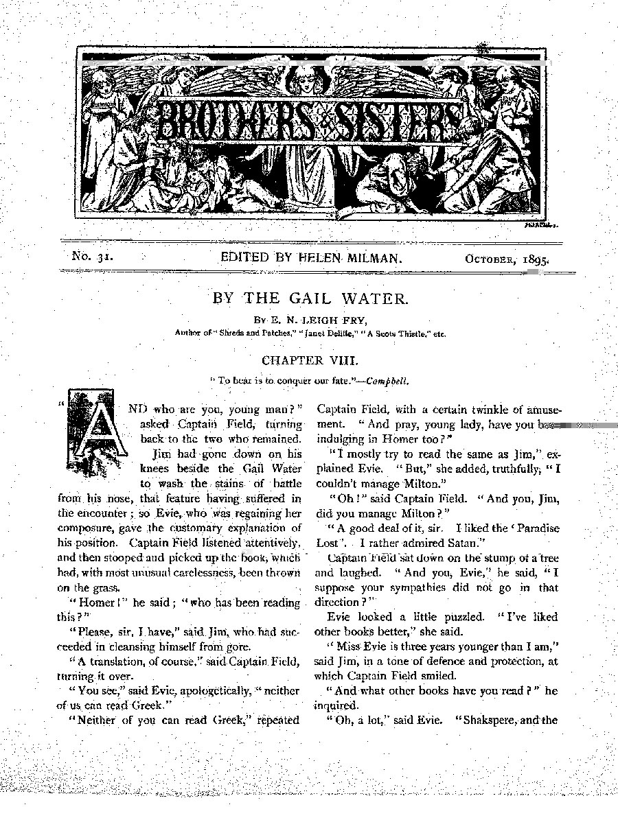 Brothers and Sisters October 1895 - page 1