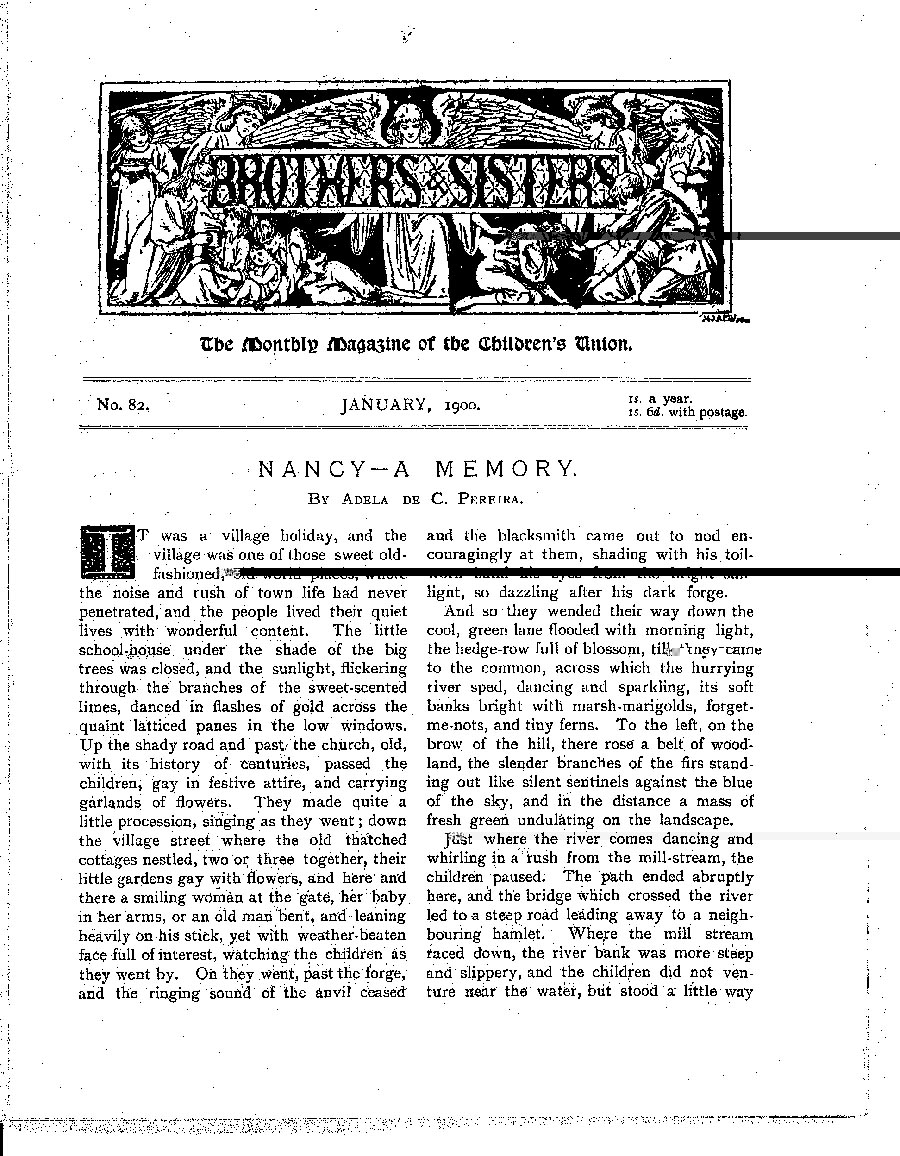 Brothers and Sisters January 1900 - page 1