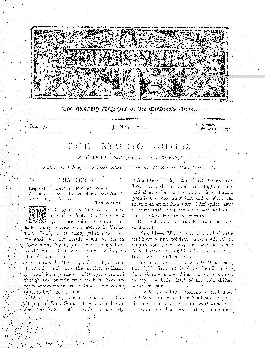 Brothers and Sisters June 1900 - page 1