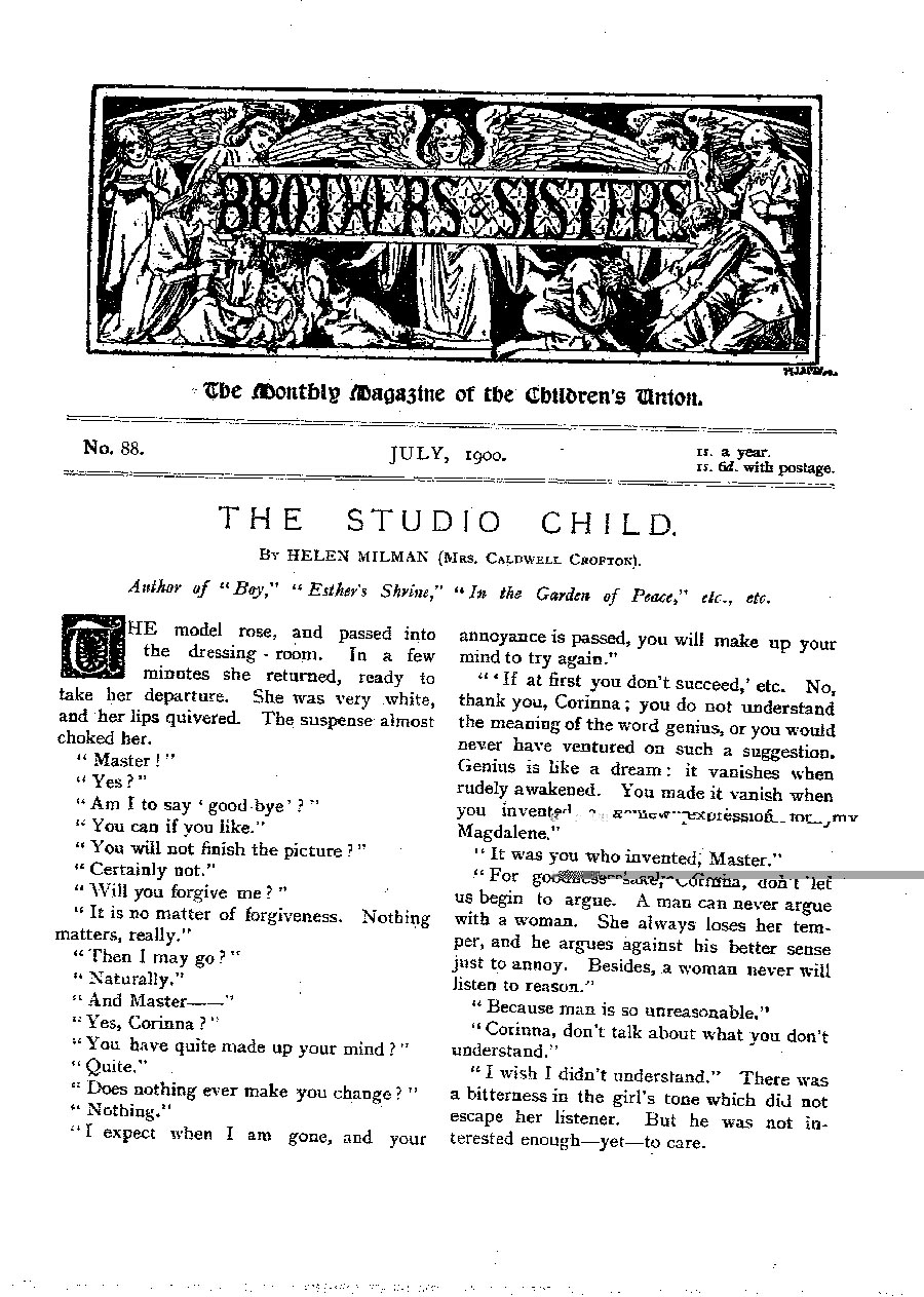 Brothers and Sisters July 1900 - page 1