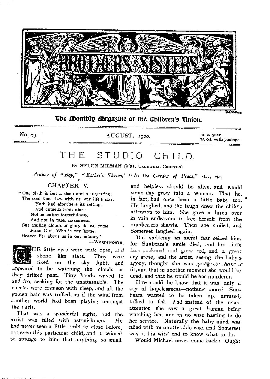 Brothers and Sisters August 1900 - page 1