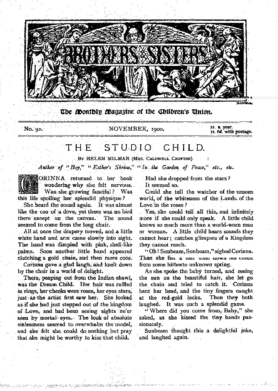 Brothers and Sisters November 1900 - page 1