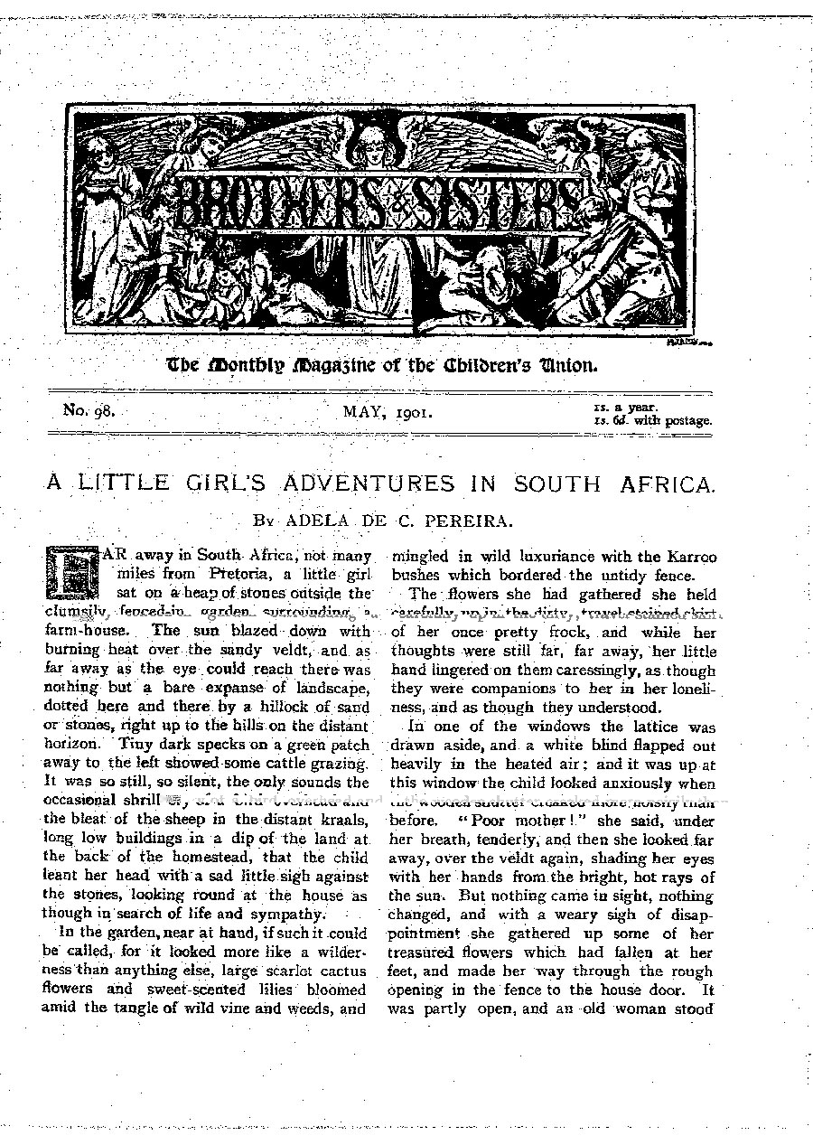 Brothers and Sisters May 1901 - page 1