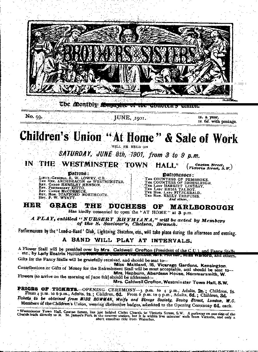 Brothers and Sisters June 1901 - page 1