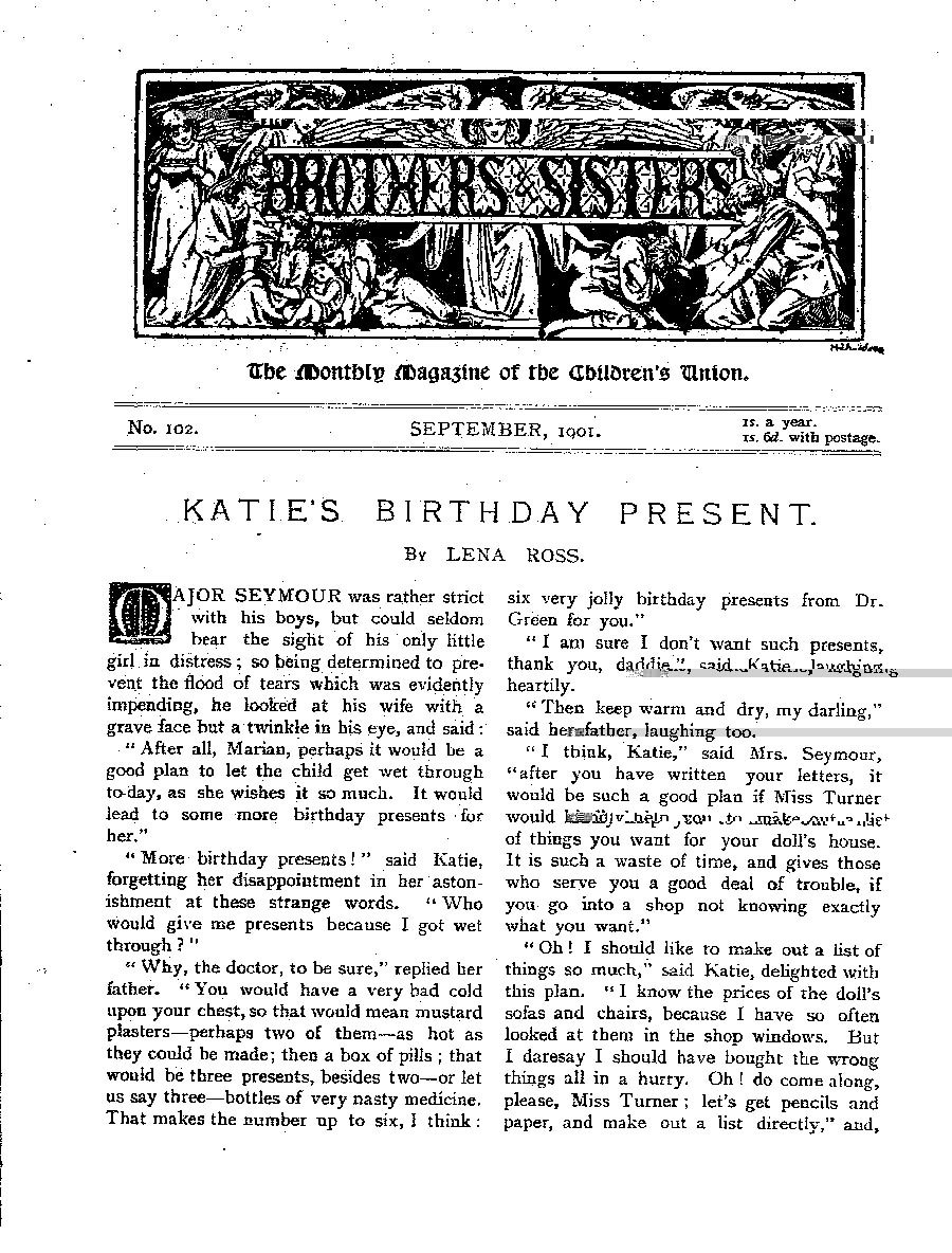 Brothers and Sisters September 1901 - page 1