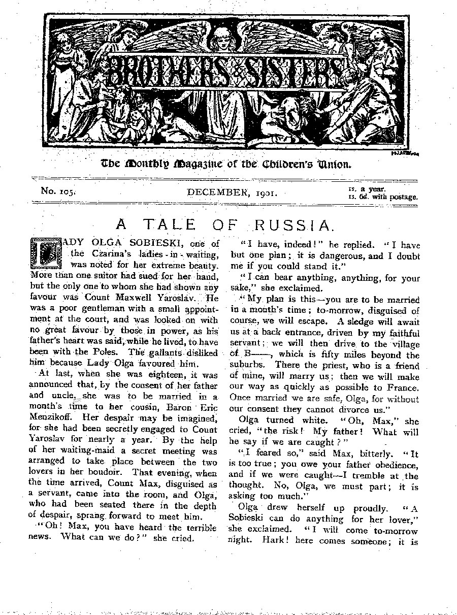 Brothers and Sisters December 1901 - page 1