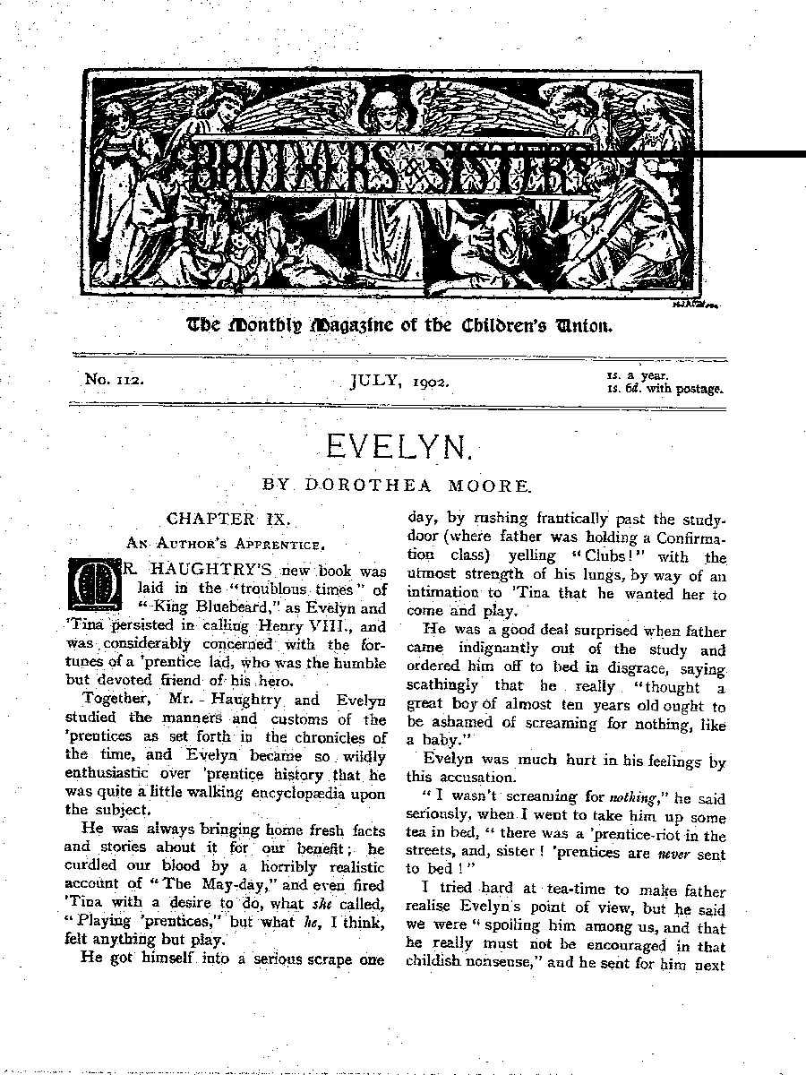 Brothers and Sisters July 1902 - page 1