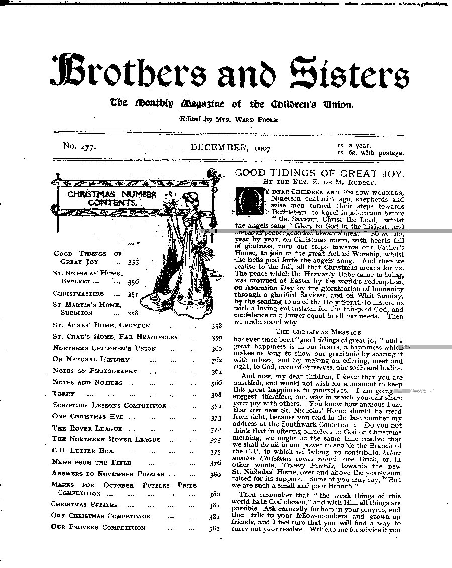 Brothers and Sisters December 1907 - page 1