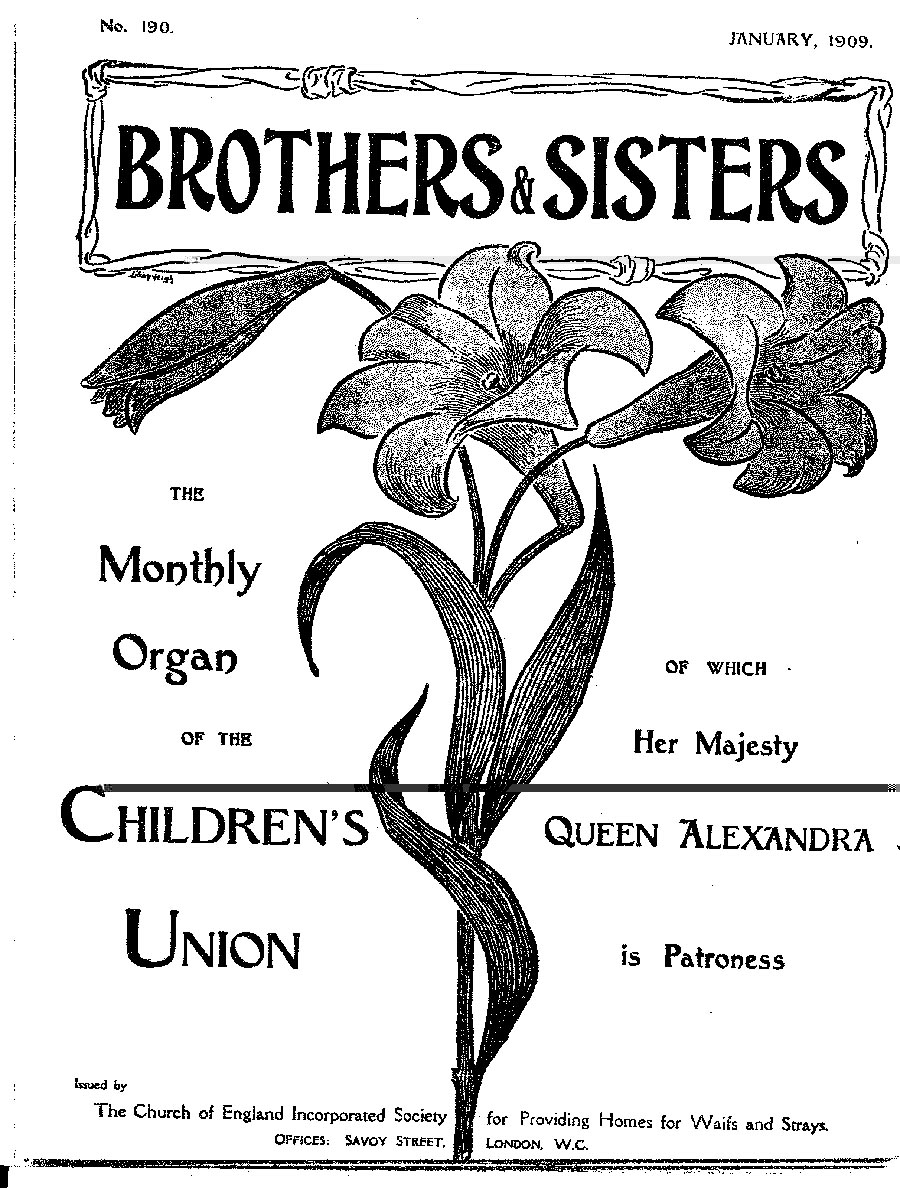 Brothers and Sisters January 1909 - page 1