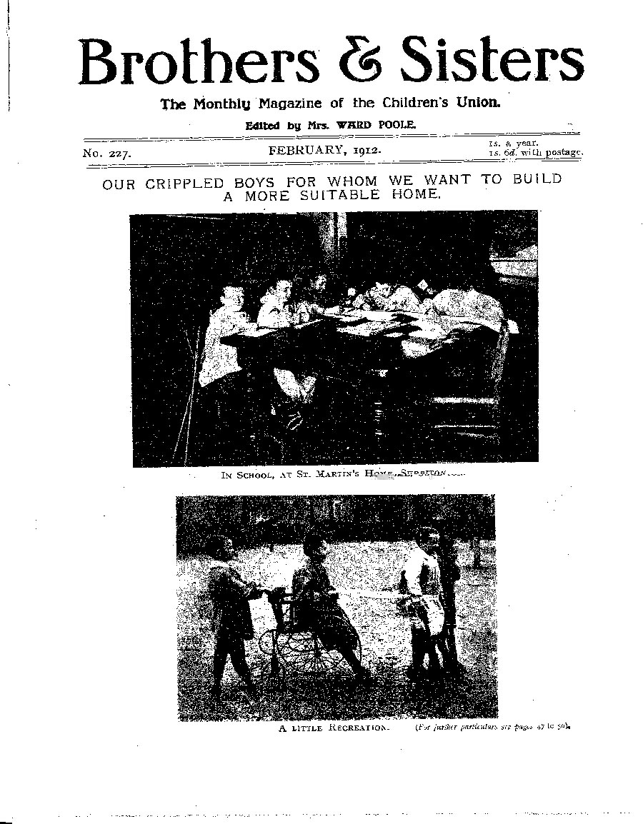 Brothers and Sisters February 1912 - page 1