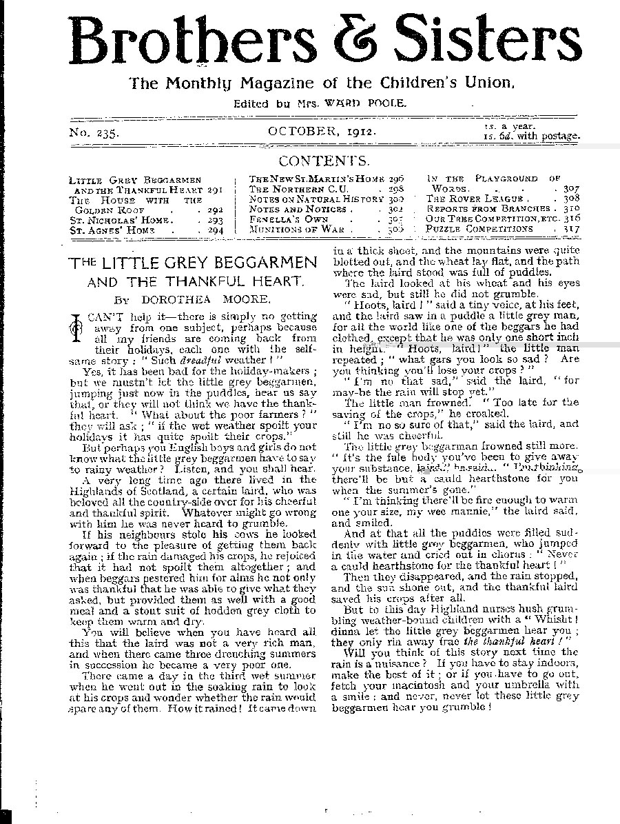 Brothers and Sisters October 1912 - page 1