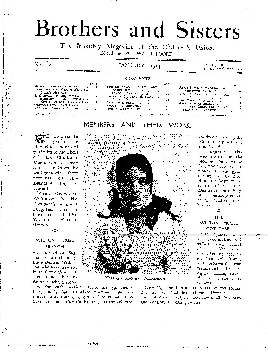 Brothers and Sisters January 1914 - page 1