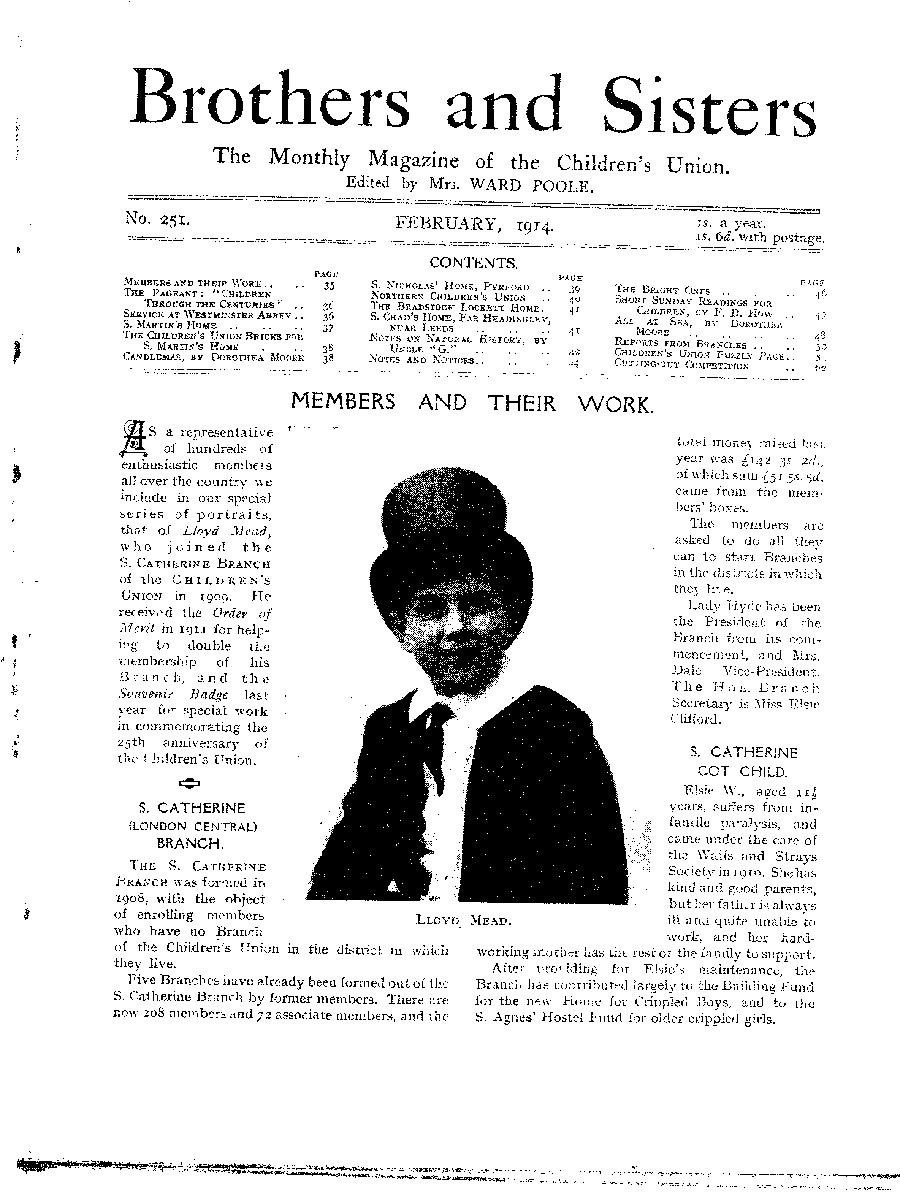 Brothers and Sisters February 1914 - page 1