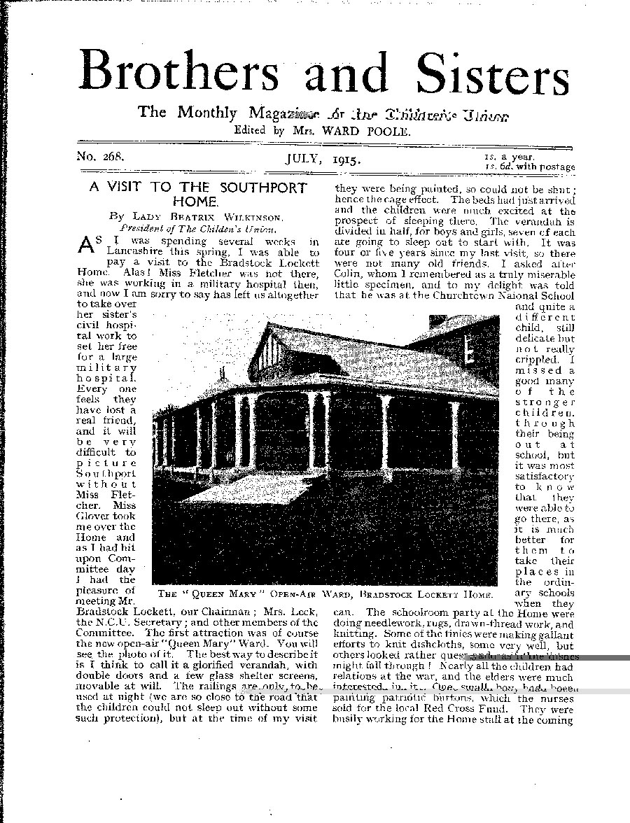 Brothers and Sisters July 1915 - page 1