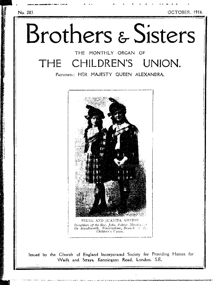 Brothers and Sisters October 1916 - page 1