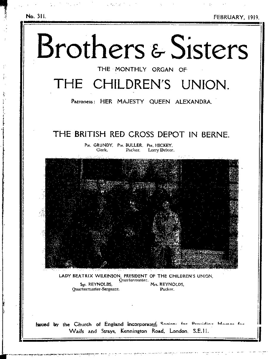 Brothers and Sisters February 1919 - page 1