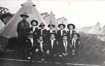 Boys' Homes became part of the Scout Movement at a very early stage. This photograph of boys from the Harvey Goodwin Home, Cambridge, was taken only five years after Sir Robert Baden-Powell first wrote down his ideas in the influential book 'Scouting for Boys'.