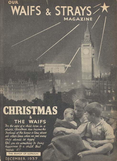 Christmas was a lonely time if you were a child on the streets. The Society used their publication covers to highlight this time of need at a time associated with giving.