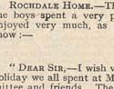 Letter from Rochdale Home