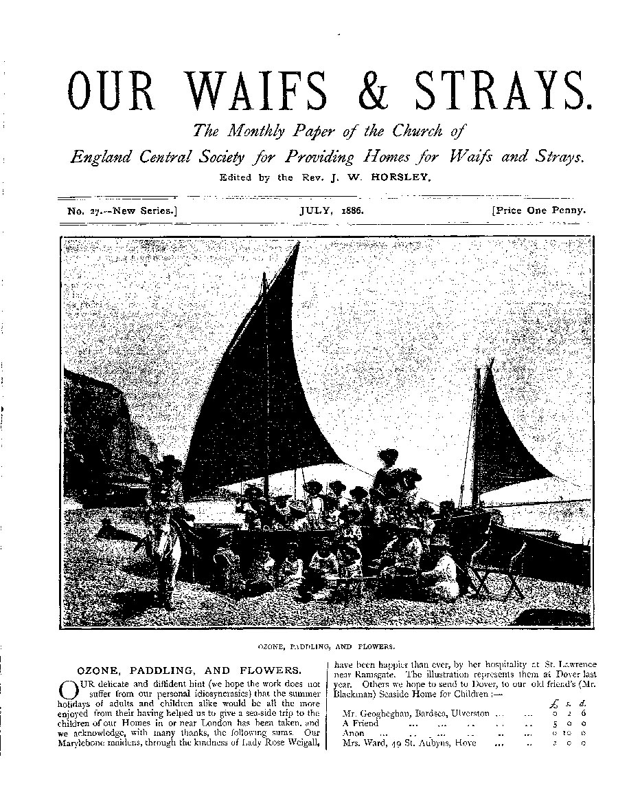 Our Waifs and Strays July 1886 - page 1