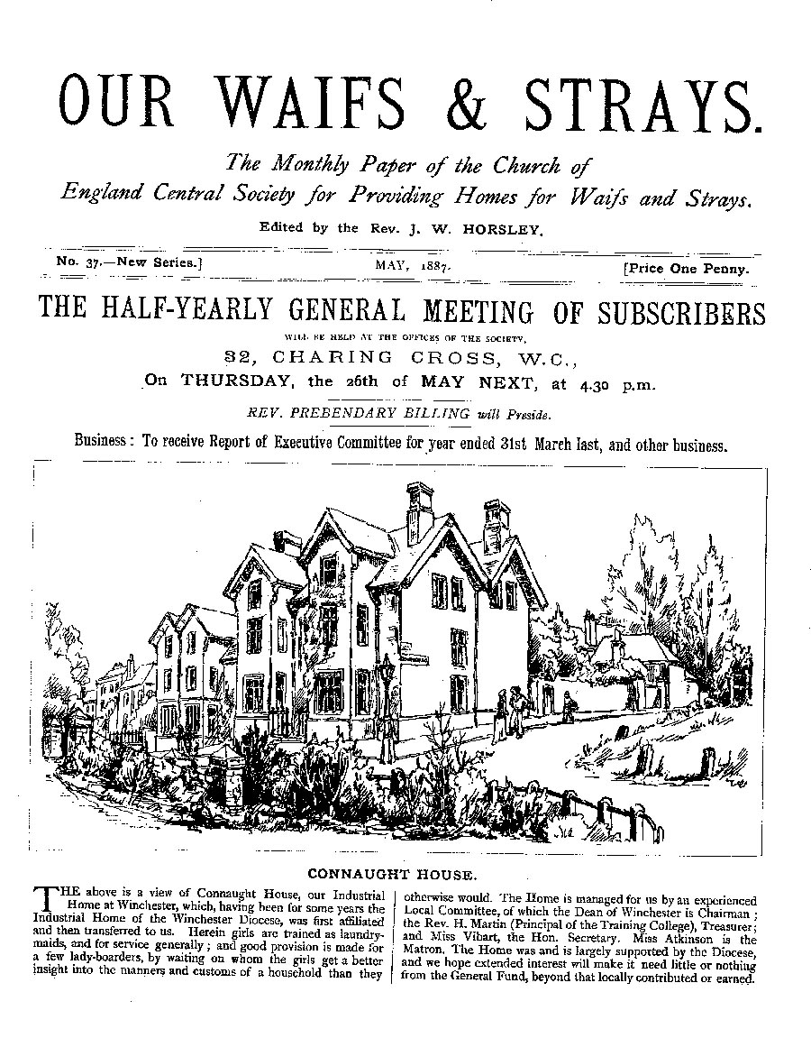 Our Waifs and Strays May 1887 - page 1