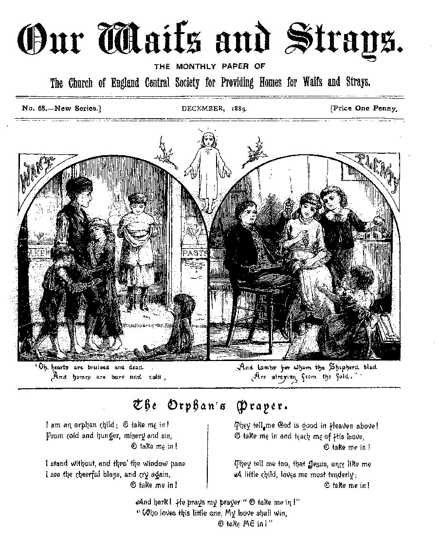 Our Waifs and Strays December 1889 - page 1