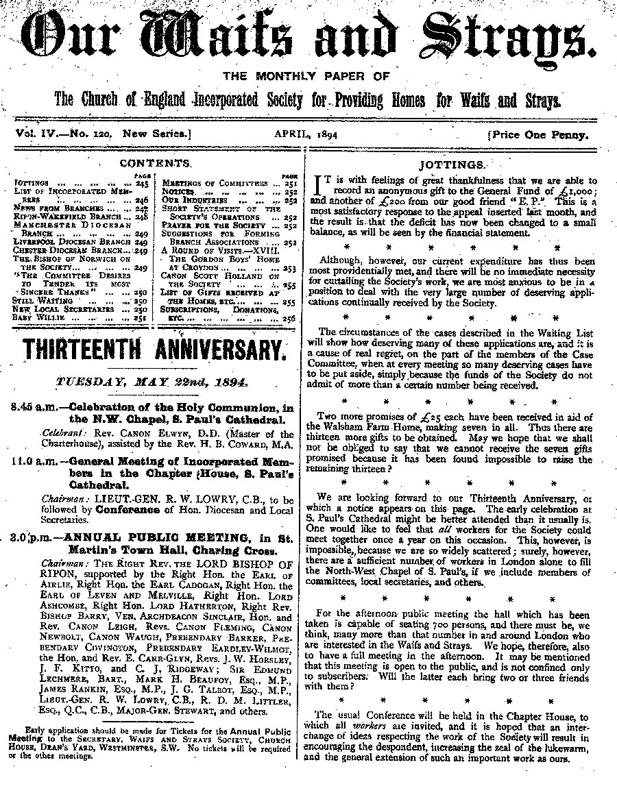 Our Waifs and Strays April 1894 - page 53