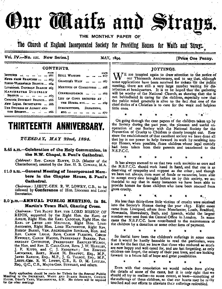 Our Waifs and Strays May 1894 - page 69