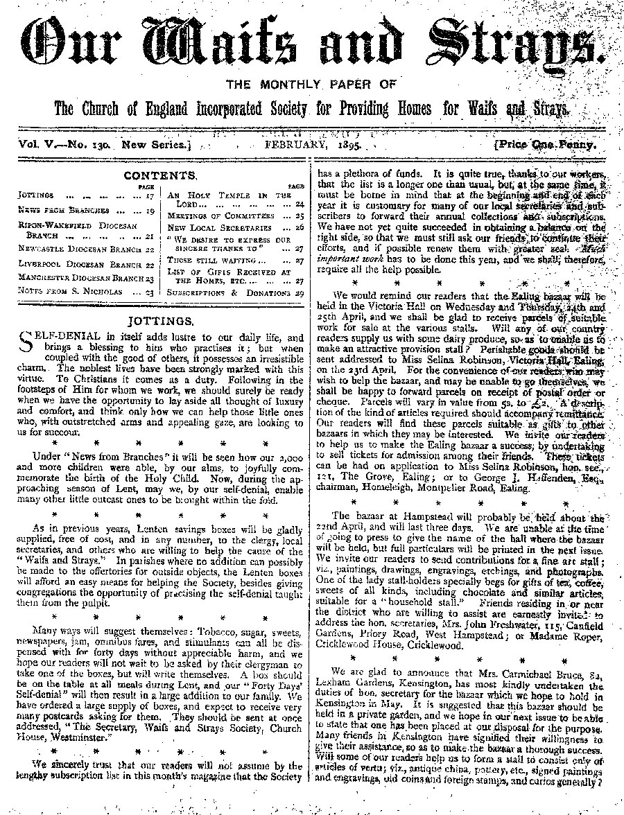 Our Waifs and Strays February 1895 - page 17