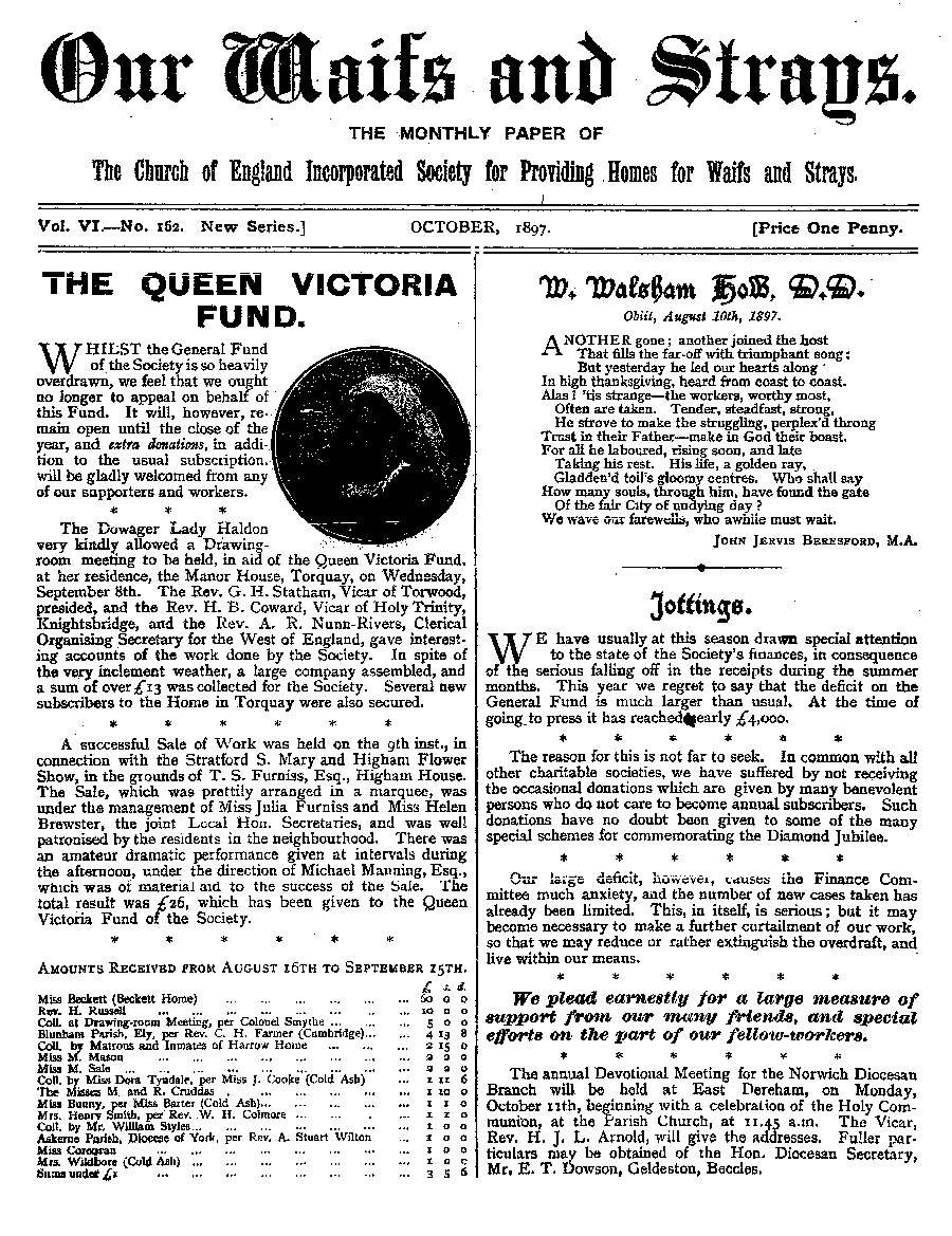 Our Waifs and Strays October 1897 - page 155