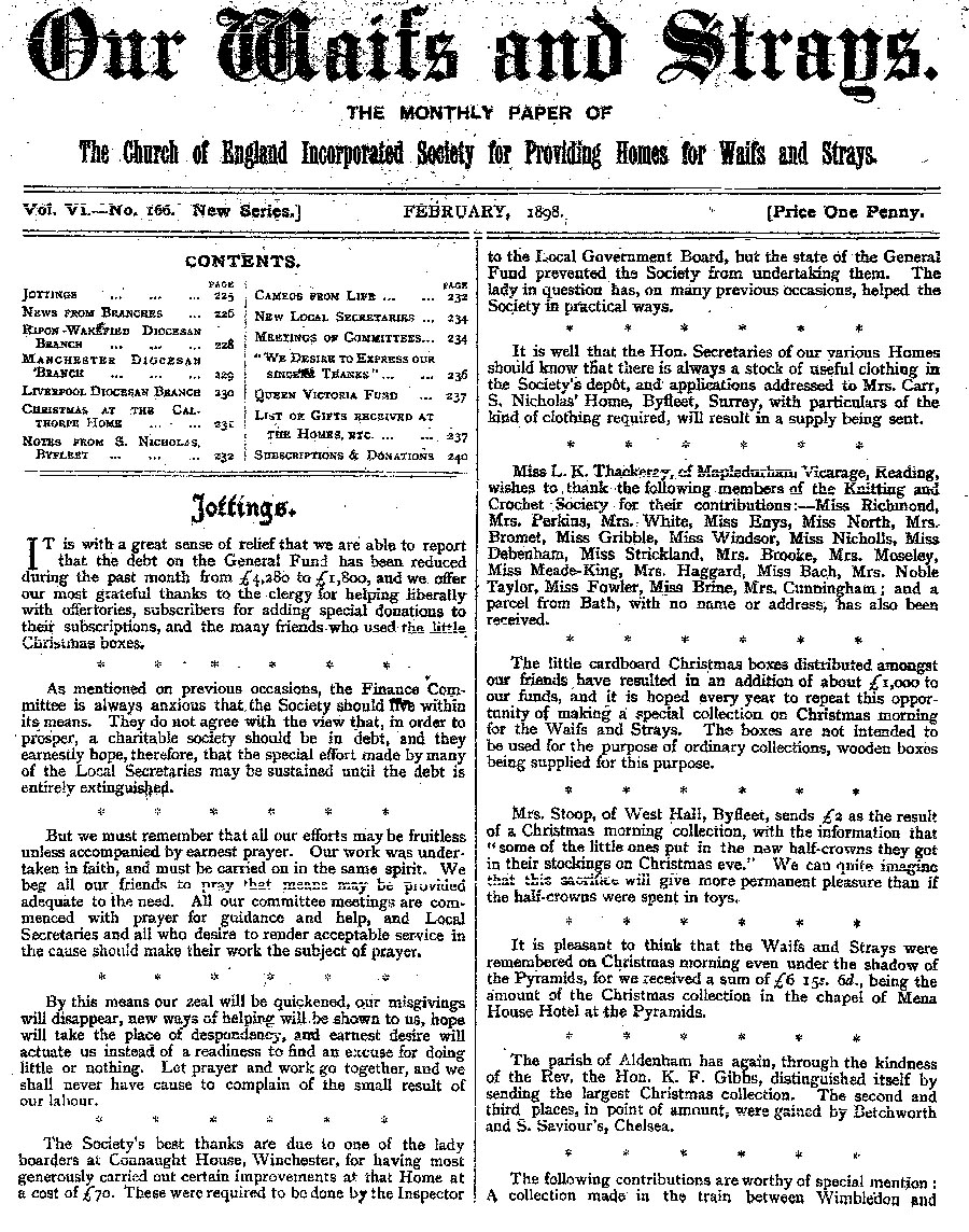 Our Waifs and Strays February 1898 - page 17