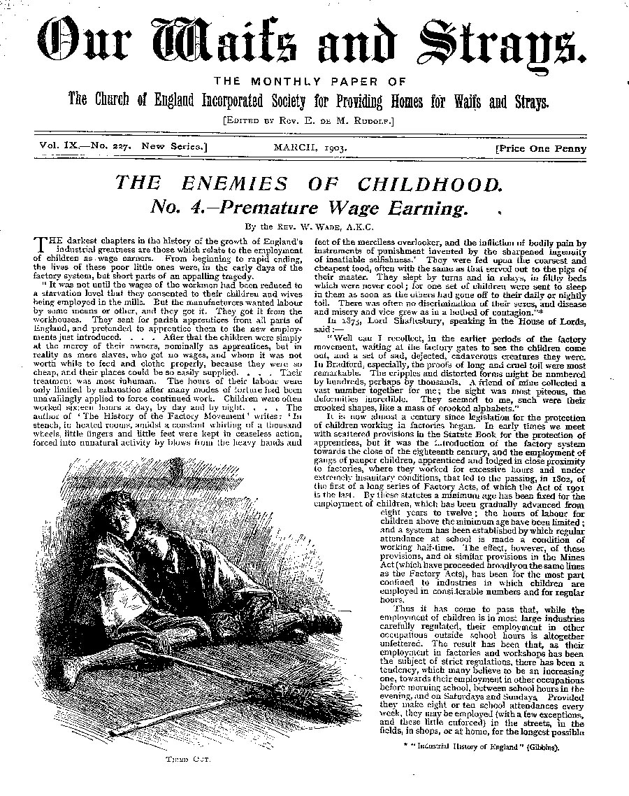 Our Waifs and Strays March 1903 - page 49