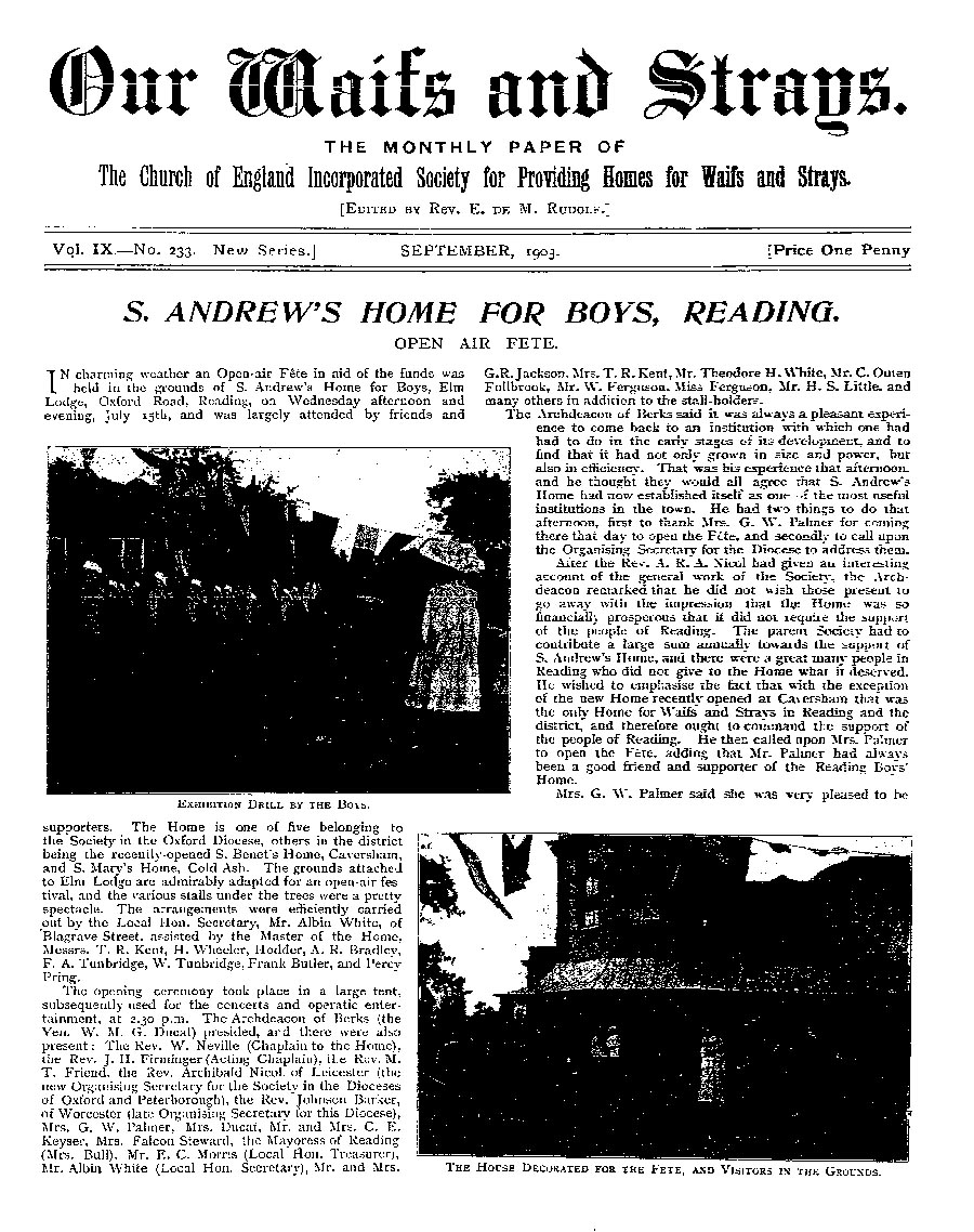 Our Waifs and Strays September 1903 - page 165