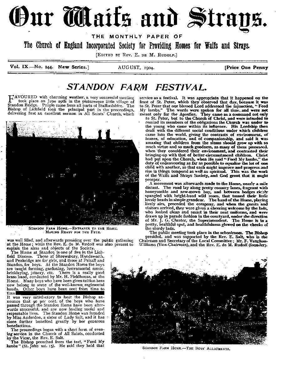 Our Waifs and Strays August 1904 - page 151