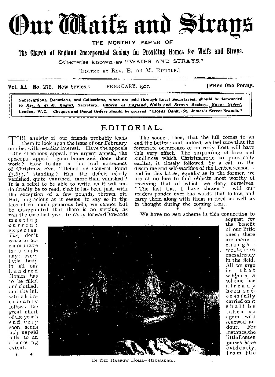Our Waifs and Strays February 1907 - page 27