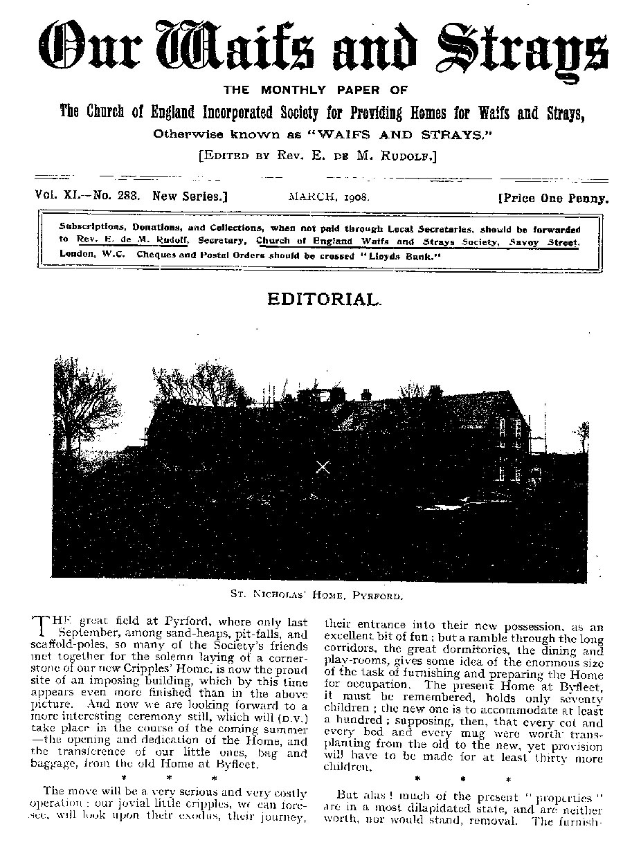 Our Waifs and Strays March 1908 - page 56