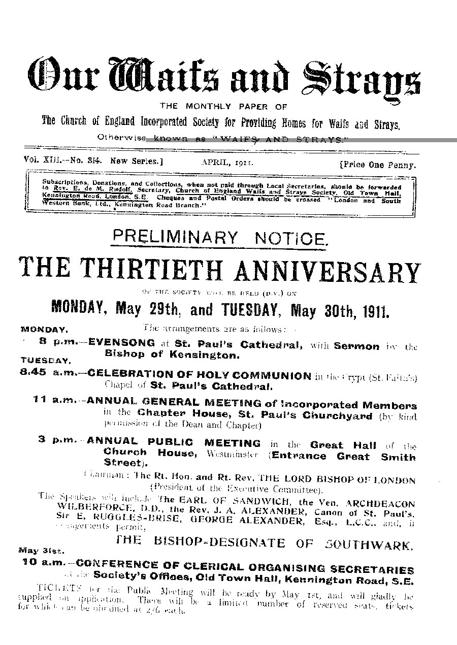 Our Waifs and Strays April 1911 - page 79