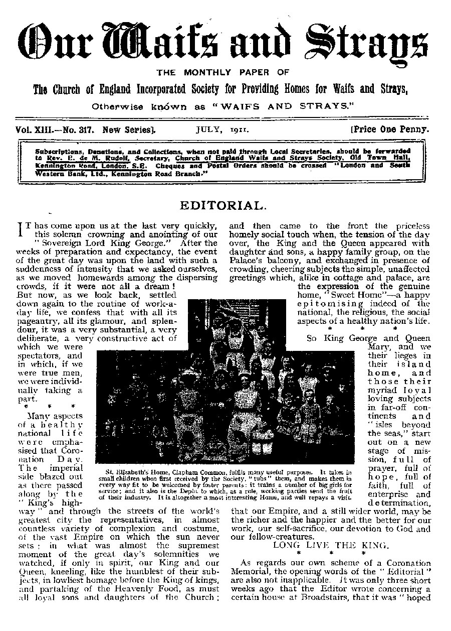 Our Waifs and Strays July 1911 - page 156