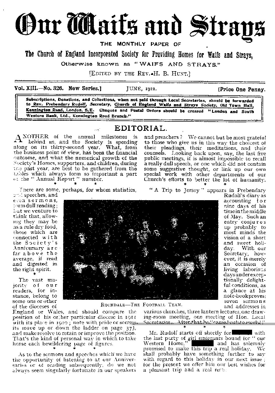 Our Waifs and Strays June 1912 - page 129