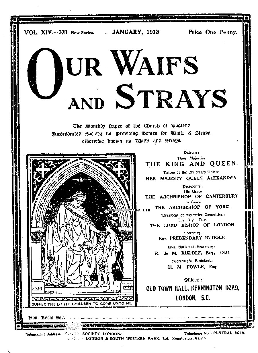 Our Waifs and Strays January 1913 - page 1