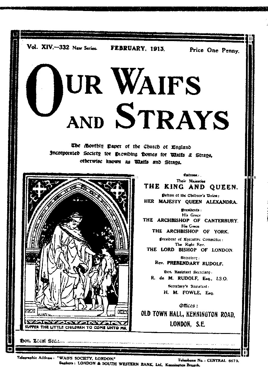 Our Waifs and Strays February 1913 - page 30